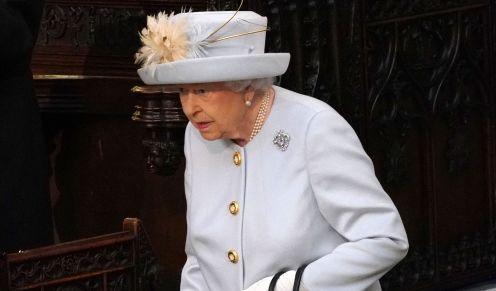 Last but not least: Queen Elizabeth II. kommt zur Hochzeit von Prinzessin Eugenie und Jack Brooksbank an der St.-Georges-Kapelle von Schloss Windsor an.
