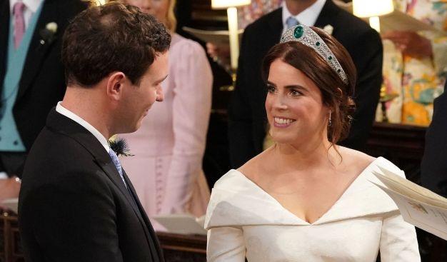 Die britische Prinzessin Eugenie von York heiratete am 12. Oktober 2018 ihren langjährigen Freund Jack Brooksbank. Alle Bilder von der royalen Traumhochzeit hier! (Foto)