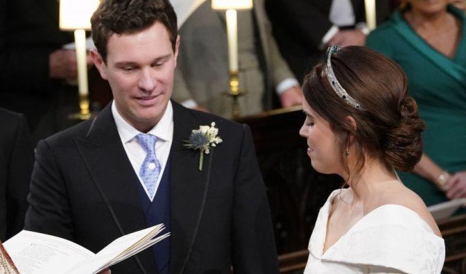 Eugenie und Jack bei der Trauungszeremonie in der St.-Georges-Kapelle von Schloss Windsor.
