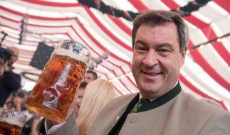 Markus Söder versteht es, sich medial in Szene zu setzen, wie hier auf dem Oktoberfest. (Foto)