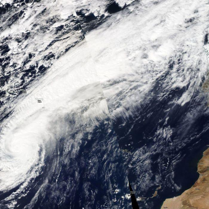 """Tropensturm """"Leslie"""" zieht über Portugal - Warnungen für Spanien (Foto)"""