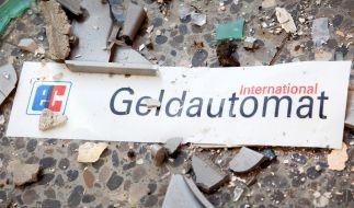 In Germering bei München sprengte ein Mann einen Geldautomaten in einem Einkaufszentrum. (Foto)