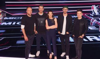 Die Juroren Smudo, Michi Beck, Yvonne Catterfeld, Mark Forster und Michael Patrick Kelly freuen sich auf die neuen Talente. (Foto)