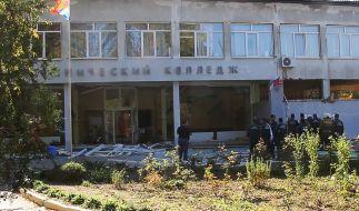 In Kertsch auf der Halbinsel Krim wurde eine Berufsschule Schauplatz eines Bombenattentats. (Foto)