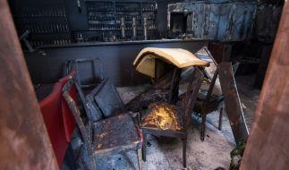 Ein türkisches Restaurant in Chemnitz wurde Ziel von Brandstiftung - die Ermittler schließen ein fremdenfeindliches Motiv nicht aus. (Foto)