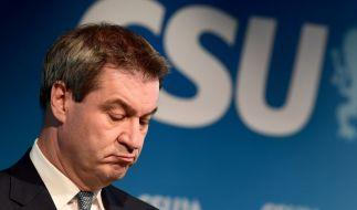 Hat allen Grund, ein langes Gesicht zu ziehen: Markus Söder nach derr Wahl-Klatsche bei der letzten Landtagswahl im Freistaat. (Foto)