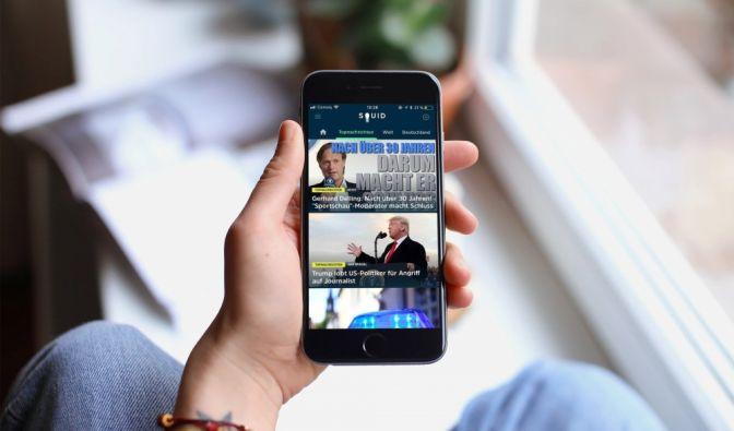 Auch news.de ist nun in der SQUID-App vertreten. (Foto)