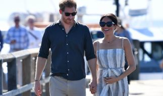 Prinz Harry, Herzog von Sussex, und seine Frau Meghan bei ihrem Besuch auf Fraser Island. (Foto)