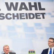 Aktuelles Programm mit Hochrechnungen, Prognose und Ergebnis der Hessenwahl (Foto)