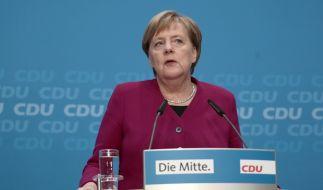 Angela Merkel gibt auf einer Pressekonferenz ihre Entscheidung bekannt, ihr Amt als Parteivorsitzende der CDU aufzugeben und nicht erneut als Bundeskanzlerin zu kandidieren. (Foto)