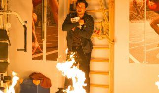 Wird Paco (Milos Vukovic) es rechtzeitig aus den Flammen schaffen? (Foto)