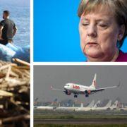 Horror-Unwetter! Katastrophe in Italien // Nach Wahl-Klatsche: Merkel will gehen // Billigflieger abgestürzt - alle Passagiere tot (Foto)