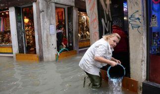Vor allem in Venedig ist man Hochwasser gewohnt, doch die Lage am Montag war so kritisch wie selten. (Foto)