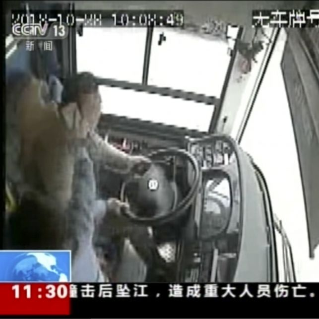 Frau verdrischt Busfahrer - Alle Fahrgäste sterben bei Horror-Crash (Foto)