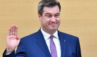Markus Söder wurde als Ministerpräsident von Bayern wiedergewählt. (Foto)