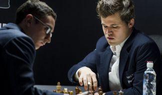 Fabiano Caruana und Magnus Carlsen kämpfen um den Weltmeister-Titel im Schach. (Foto)