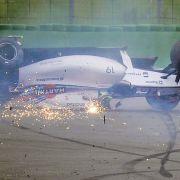 ... wie etwa hier beim Start zum Großen Preis von Deutschland, bei dem sich Felipe Massa 2014 mit seinem Wagen überschlug.