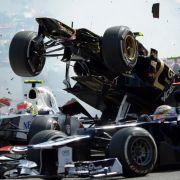 Vor allem während der Startphase kommt es in der Formel 1 immer wieder zu schweren Kollisionen...
