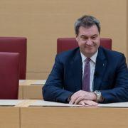 Bayerns Ministerpräsident Markus Söder stellt im Landtag sein neues Kabinett vor. (Foto)