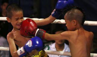 Der Kampfsport Muay Thai, auch als Thai-Boxen bekannt, ist in Thailand bereits bei Kindern angesagt. (Foto)