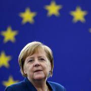 Angela Merkel spricht sich vor der EU für eine europäische Armee aus. (Foto)