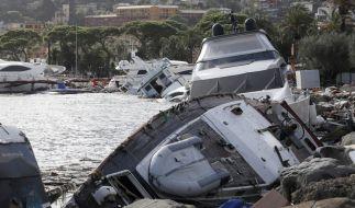 Ende Oktober wurden bei heftigen Unwettern Boote in Italien an Land gespült. (Foto)