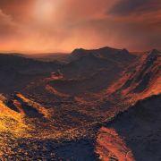 So könnte es nach einer künstlerischen Darstellung auf dem Exoplaneten aussehen. (Foto)