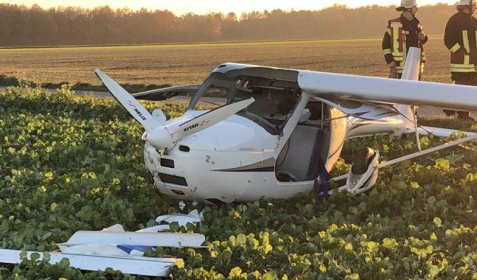 Flugzeugunglück in Erkelenz (NRW)