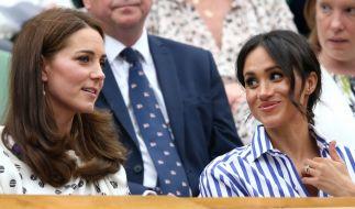 Im Sommer 2018 schien die Stimmung zwischen Kate Middleton und Meghan Markle noch entspannt zu sein. (Foto)