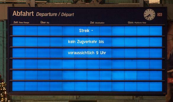Bahnstreik 2018 aktuell