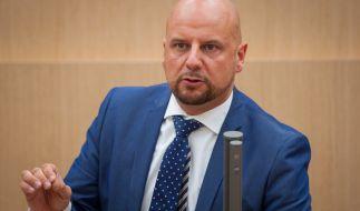 Stefan Räpple(AfD) während einer Rede imLandtag von Baden-Württemberg. (Foto)