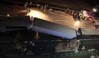 Bei einem schweren Verkehrsunfall ist auf der Autobahn 1 ein Lkw-Fahrer ums Leben gekommen. (Foto)