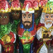 Die Heiligen drei Könige in Schokoladenform haben Tradition in Spanien.