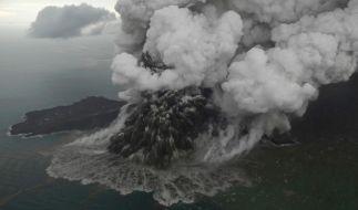 Der Ausbruch des Vulkans Anak Krakatau löste durch einen Erdrutsch einen Tsunami aus. (Foto)