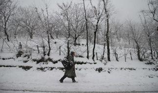 Indien wird zum Jahreswechsel 2018/19 von Schneemassen heimgesucht. (Foto)
