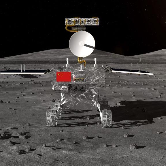 "Sensation! ""Jadehase 2"" rollt über Mond-Rückseite (Foto)"