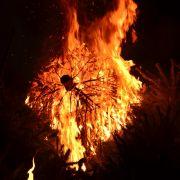 Christbaum brennt - Frau (84) schwer verletzt! (Foto)