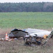 In Brandenburg ist ein Motorflugzeug abgestürzt.