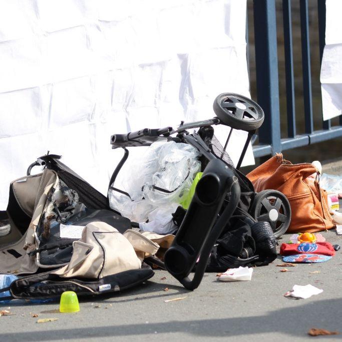 Horror-Unfall! Mutter und Baby von Auto erfasst (Foto)