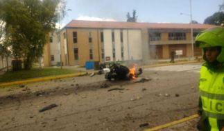 In Kolumbien wurde ein verheerender Anschlag auf eine Polizeischule durchgeführt. (Foto)