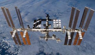 Auf einem Live-Stream von der ISS wurden merkwürdige Objekte entdeckt. (Foto)