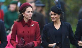 Zwischen Herzogin Kate und Meghan Markle soll der Zickenkrieg beigelegt sein. (Foto)