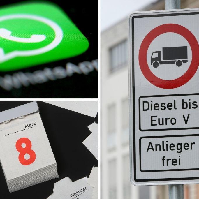 WhatsApp,Diesel-Fahrverbot und mehr - Alle Gesetzesänderungen HIER! (Foto)