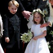 Goldig: Prinz George und seine jüngere Schwester Prinzessin Charlotte dürfen bei der Hochzeit von Meghan Markle und Prinz Harry Blumenkinder sein.