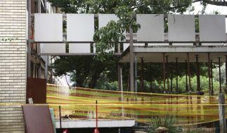 Die kläglichen Reste der Brücke, die 3 Kinder aus dem Leben riss. (Foto)