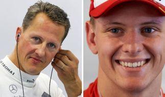 Michael Schumacher (links) und sein Sohn Mick Schumacher. (Foto)
