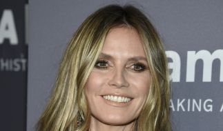 Heidi Klum, Model und Moderatorin, bei der amfAR-Gala in New York. (Foto)