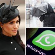 Unwetterwarnung für Deutschland // Meghan Markle völlig fertig//WhatsApp sperrt Accounts (Foto)