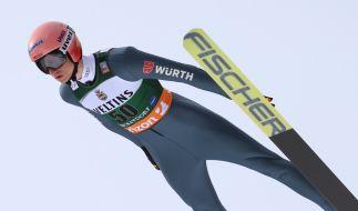 Karl Geiger aus Deutschland in Aktion. (Foto)