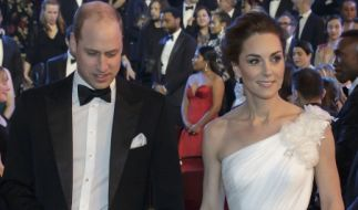 Prinz William und seine Frau Herzogin Kate von Cambridge bei der72. BAFTA-Preisverleihung in der Royal Albert Hall. (Foto)